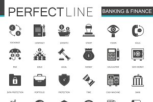 Black Banking and finance icons