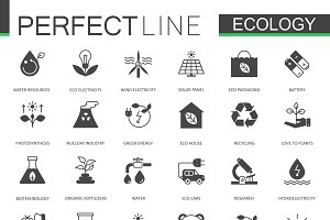 Black Ecology technology icons