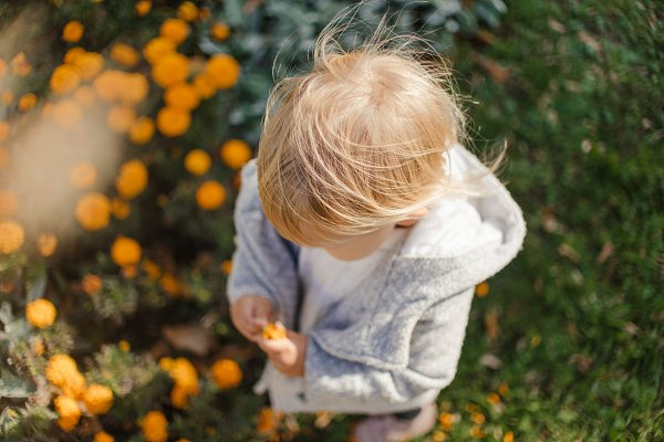 People Stock Photos - baby girl  in autumn