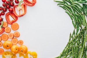top view of healthy fresh vegetables