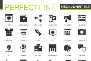 Black Media Advertising icons