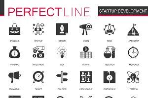 Black Startup development icons