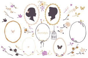 Romantic Wedding Clip Art Set