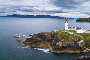 Aerial view of the Fanad Head