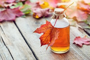 Maple syrup or healthy tincture.