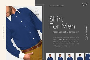 Men Shirt Mock-ups Set FREE DEMO