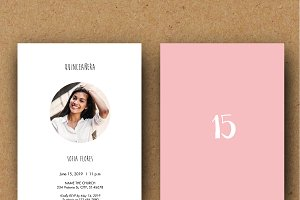 Quinceañera Invitation Template - A5