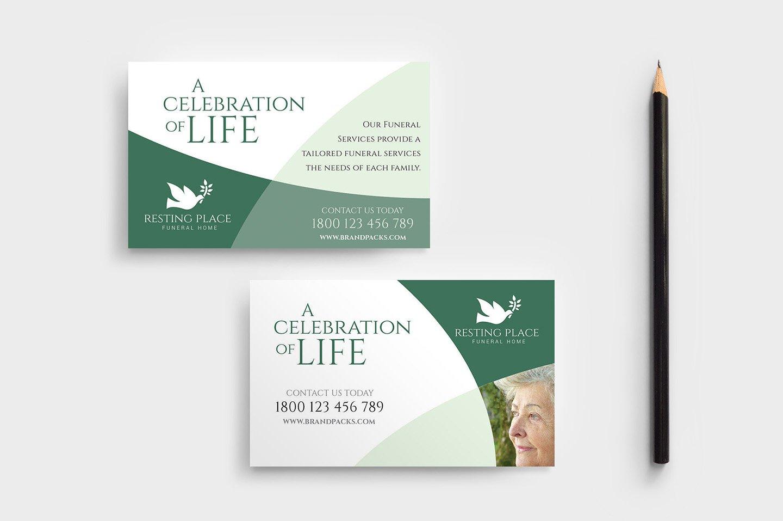 Funeral Service Business Card Templates Creative Market