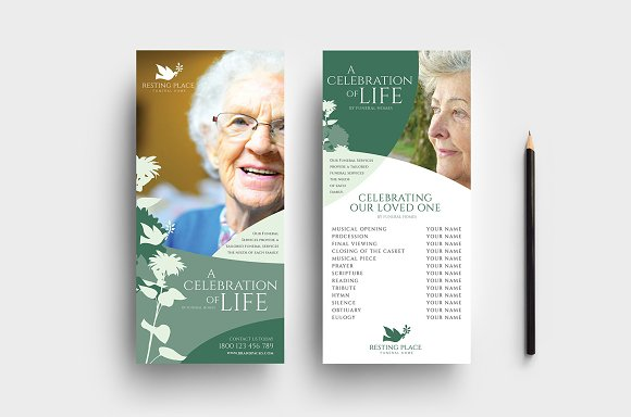 Funeral Service Templates Pack Flyer Templates Creative Market