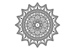 Ethnic Mandala ornament
