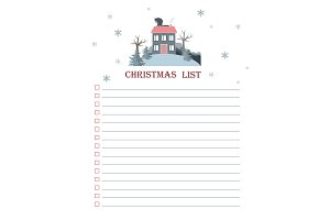 Vector template for Christmas to do