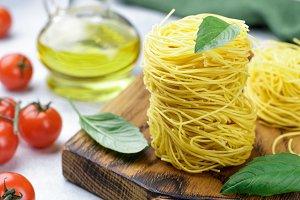raw Italian pasta