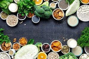 calcium vegetarians healthy food
