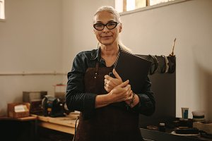 Senior female jewelry designer