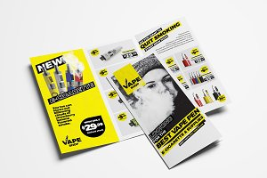 Vape Shop Trifold Brochure Template