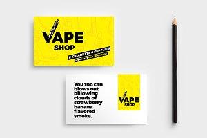 Vape Shop Business Card Template