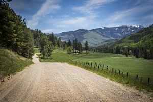 Gravel Road to the Mountains