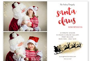 Santa Claus Mini Session Template