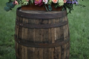 Rustic Colorful Wedding Flowers