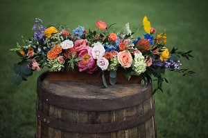 Colorful Rustic Wedding Flowers