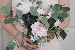 Pink Wedding Bouquet Pink Dress