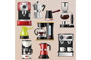 Coffee machine vector coffeemaker