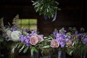 Purple Vintage Wedding Flowers
