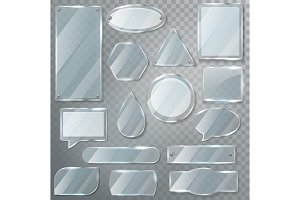 Glass vector transparency glossy