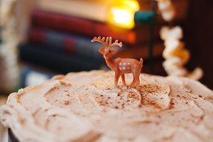 Tiny Rudolph on Holiday Cake
