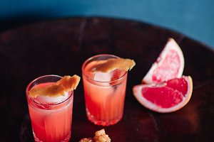 Pink Drink Cocktail with Grapefruit