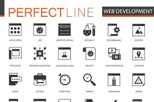 Black SEO and development icons