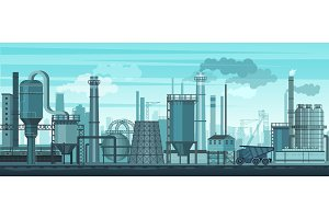 Industrial landscape background