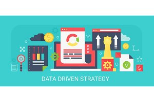 Data Driven Strategy concept