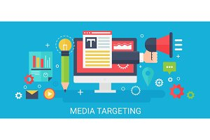 Media targeting concept banner