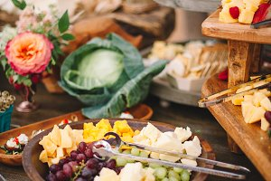 Cheese & Vegetable Gathering Table