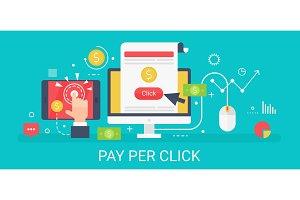 Pay per click concept banner