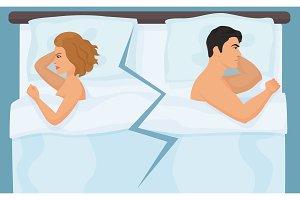 Couple having quarrel conflict