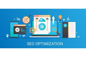 Seo optimization analytics concept