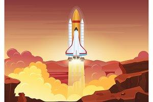 Heavy rocket launch