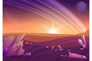 Fantasy mystery alien landscape