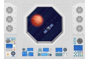 Modern spaceship window