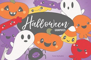 Halloween Graphics Set