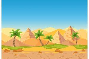 Nature sand desert landscape