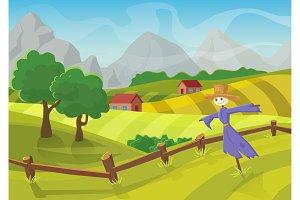 Farm landscape field landscape.
