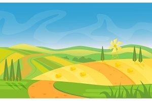 Rural beautiful landscape