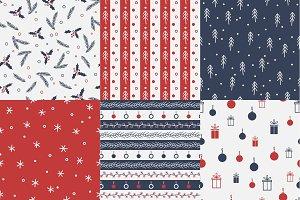 Seamless christmas patterns.