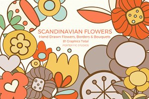 Scandinavian Flowers Graphics Set