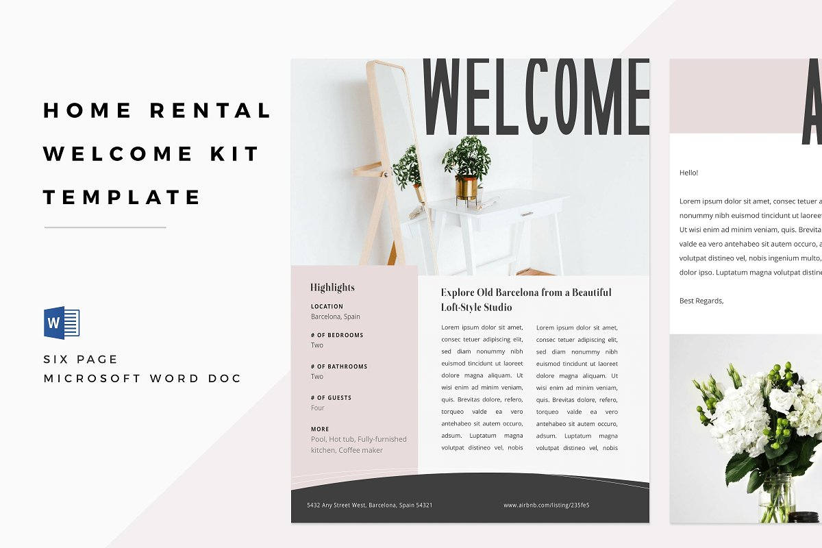Airbnb Rental Welcome Book Kit
