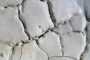Light gray dry cracked surface of vo