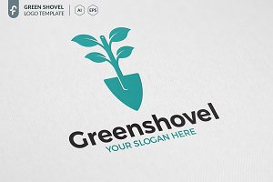 Green Shovel Logo